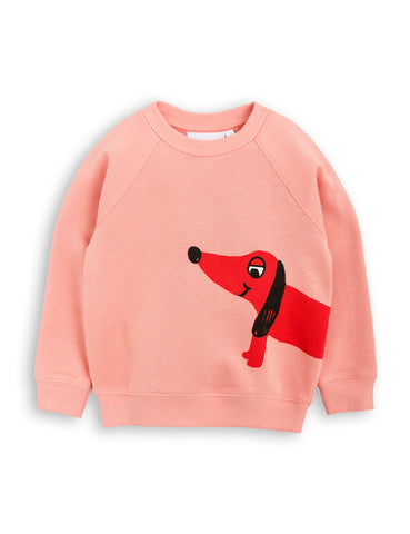 Mini Rodini Pink Dog Sweatshirt | POCO KIDS