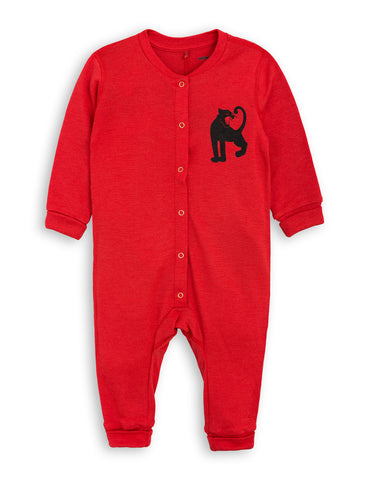 Mini Rodini Red Panther Baby Onesie | POCO KIDS