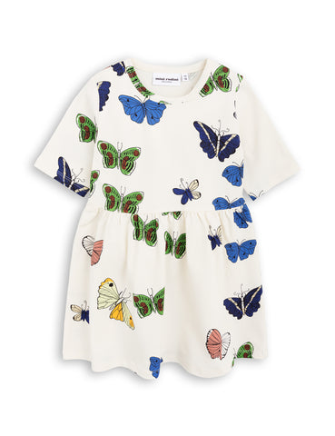 Mini Rodini Off White Butterflies Dress | POCO KIDS