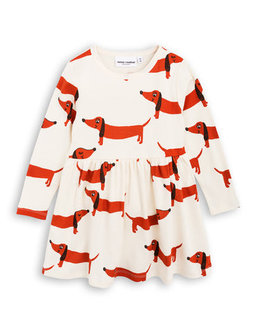 Mini Rodini Off White Dog Dress | POCO KIDS