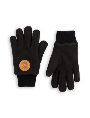 Mini Rodini Black Fleece Gloves | POCO KIDS
