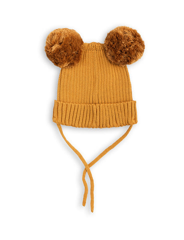 Mini Rodini Beige Panda Ear Hat | POCO KIDS