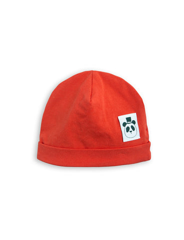 Mini Rodini Red Baby Basic Beanie | POCO KIDS
