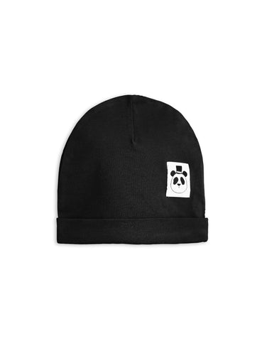 Mini Rodini Black Basic Baby Beanie | POCO KIDS