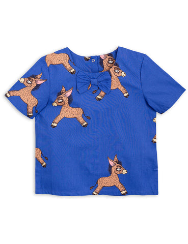 Mini Rodini Blue Donkey WOven Blouse | POCO KIDS
