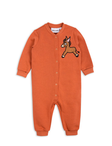 Mini Rodini Orange Donkey Cactus Onesie | POCO KIDS