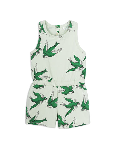 Mini Rodini Green Swallows Summersuit | POCO KIDS
