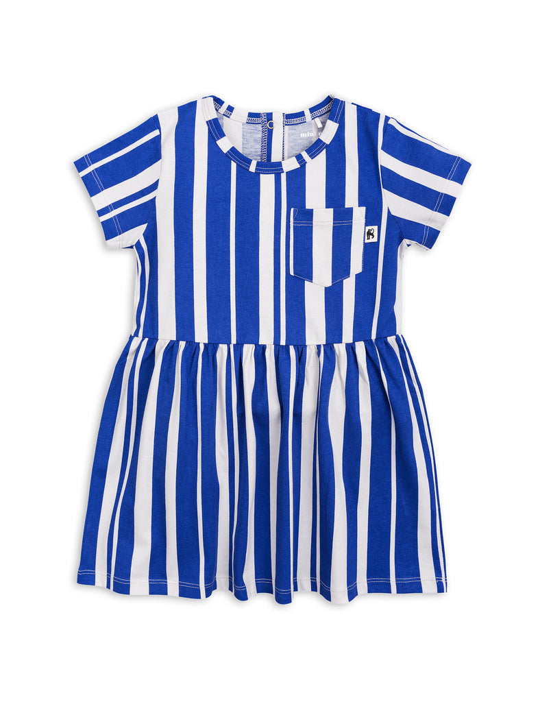 Mini Rodini Blue Odd Stripe Dress | POCO KIDS