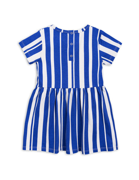 Blue Odd Stripe Dress