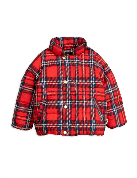 Mini Rodini Red Check Puffer Jacket | POCO KIDS