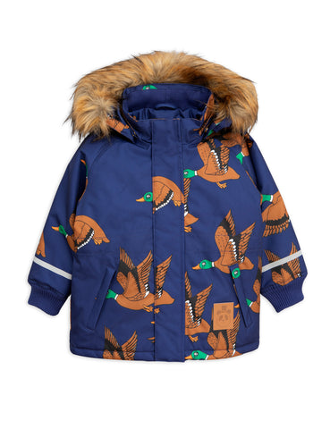 Mini Rodini Navy Ducks K2 Parka Coat | POCO KIDS