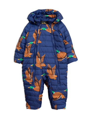 Mini Rodini Navy Ducks Baby Insulator Overall | POCO KIDS