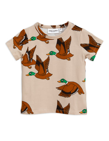 Mini Rodini Beige Ducks T-Shirt | POCO KIDS