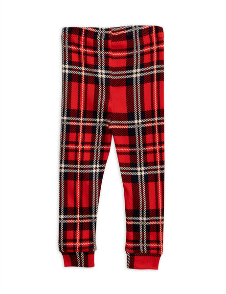 Red Check Cuff Leggings
