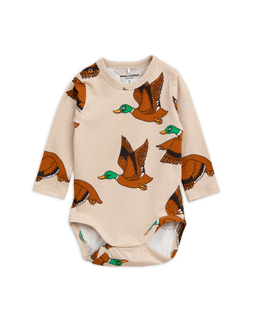 Mini Rodini Beige Ducks Body | POCO KIDS