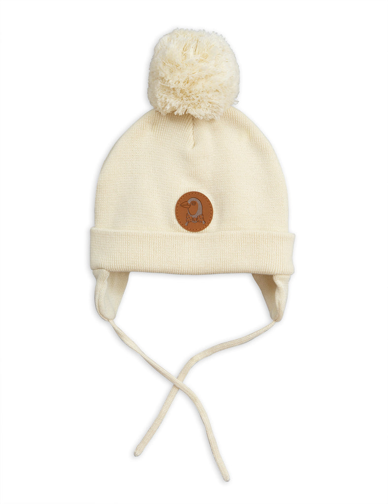 66fa13d4648 Mini Rodini Off White Penguin Baby Beanie