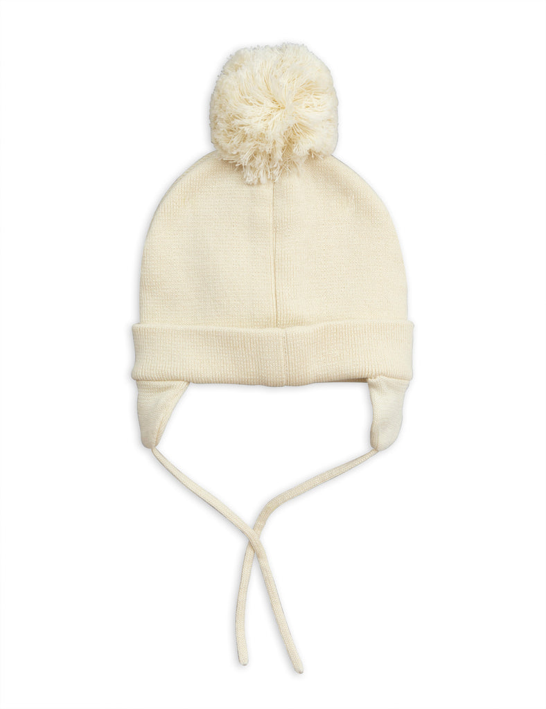 b1b015627e9 ... Mini Rodini Off White Penguin Baby Beanie