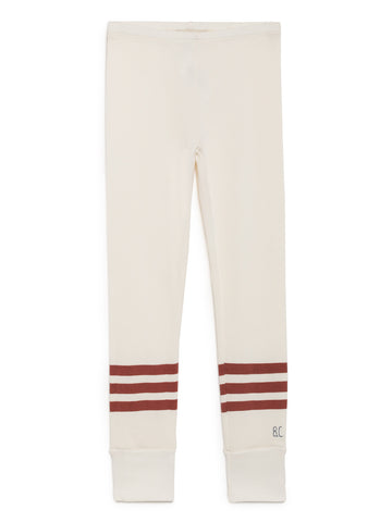 Bobo Choses Off White Ribbed Red Stripes Leggings | POCO KIDS