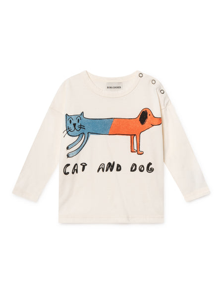 Baby White Cat Dog T-Shirt - Last one 6-12 months