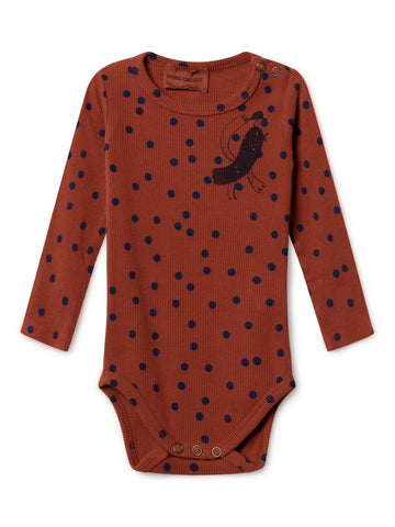 Bobo Choses Red Bird Long Sleeve Body | POCO KIDS