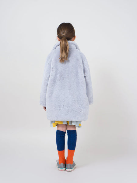 Bobo Choses Light Blue Faux Fur Coat | POCO KIDS