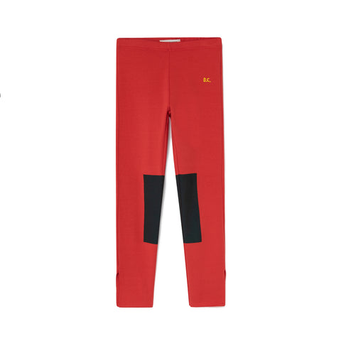 Bobo Choses Green Patch Red Leggings | POCO KIDS