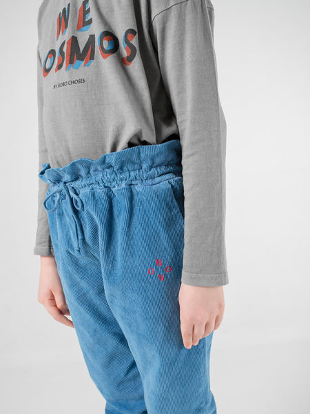 Bobo Choses Blue Corduroy Flag Baggy Pants | POCO KIDS