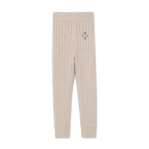 Bobo Choses Cream Bobo Knitted Pants | POCO KIDS