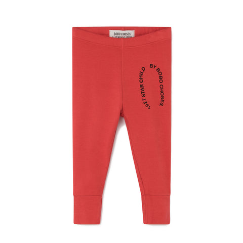 Bobo Choses Starchild Patch Red Baby Leggings | POCO KIDS