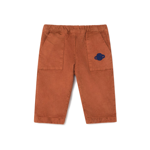 Bobo Choses Brown Saturn Corduroy Baby Pants | POCO KIDS