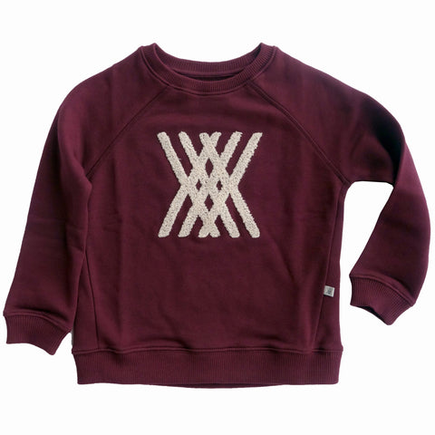 Repose AMS Wine Red Sweater | POCO KIDS