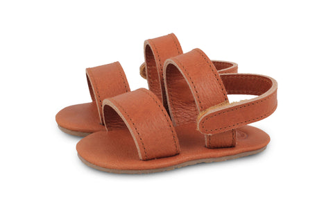 Donsje Cognac Sari Leather Sandals | POCO KIDS