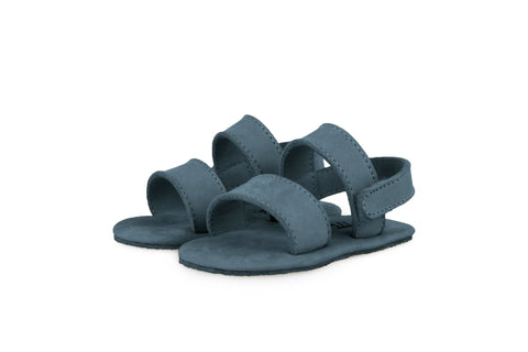 Donsje Petrol Blue Sari Leather Sandals | POCO KIDS