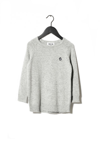 Sometime Soon Grey Troy Knitted Jumper | POCO KIDS