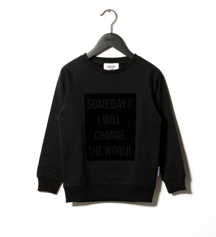 Someday Soon Black Ivan Sweatshirt | POCO KIDS