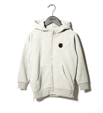 Someday Soon Grey Melange Pelle Hoodie | POCO KIDS