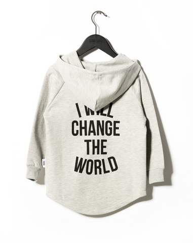 Someday Soon Grey Melange Monterey Hooded Sweatshirt | POCO KIDS
