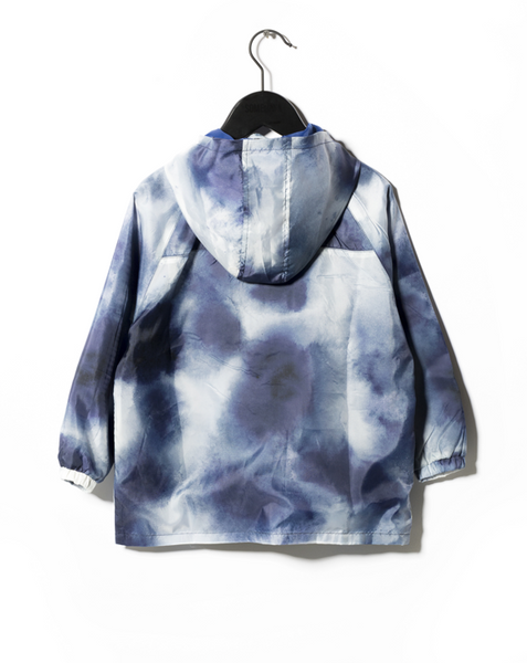 Someday Soon Blue Vertical Windbreaker Jacket, back | POCO KIDS