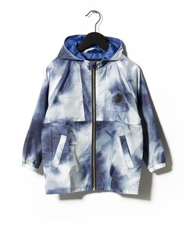 Someday Soon Blue Vertical Windbreaker Jacket | POCO KIDS