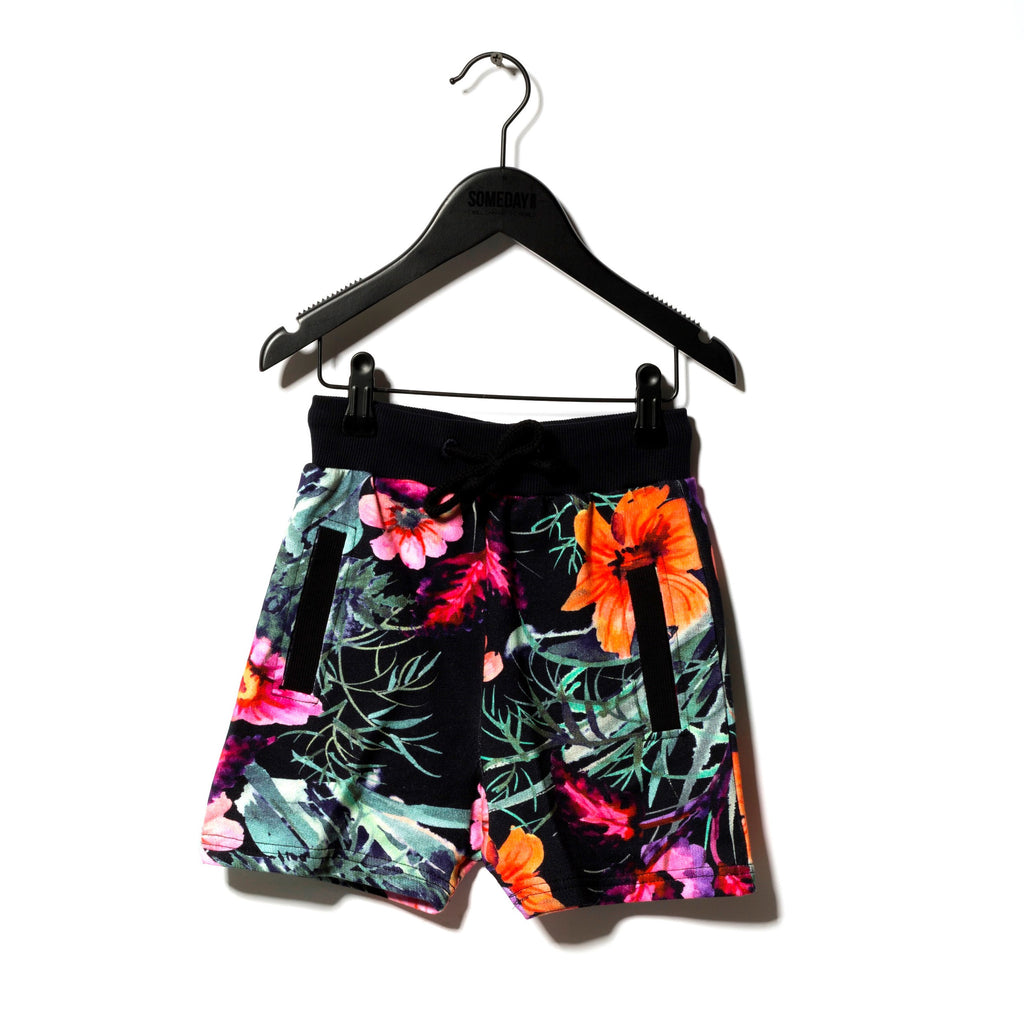 Someday Soon Fiji Hawaian Flower Print Sweatshorts | POCO KIDS