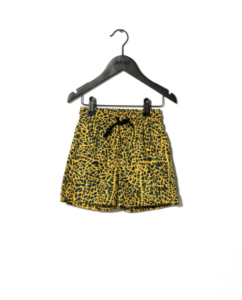 Sometime Soon Yellow Fuse Splash Swimshorts | POCO KIDS
