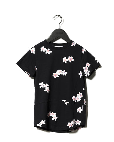 Someday Soom Black Bahama Flower T-Shirt | POCO KIDS