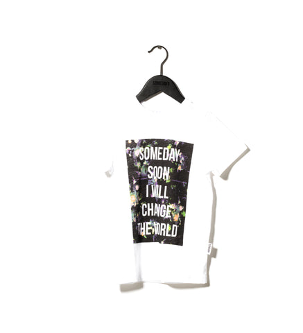 Someday Soon White Floral Someday T-shirt | POCO KIDS