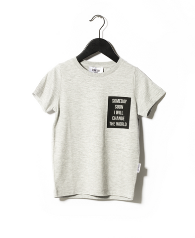 Someday Soon Grey Melange Vista T-shirt | POCO KIDS