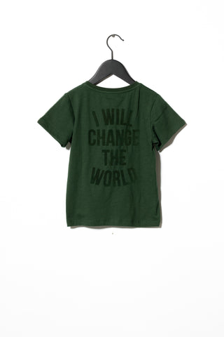 Sometime Soon Khaki Green Revolution T-Shirt | POCO KIDS