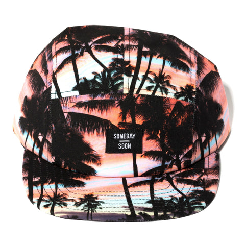 Someday Soon Playa Sunset print, 5 panel Cap | POCO KIDS