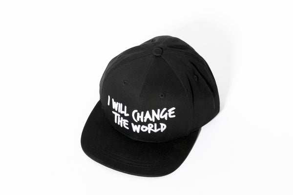 Black I Will Change the World Cap