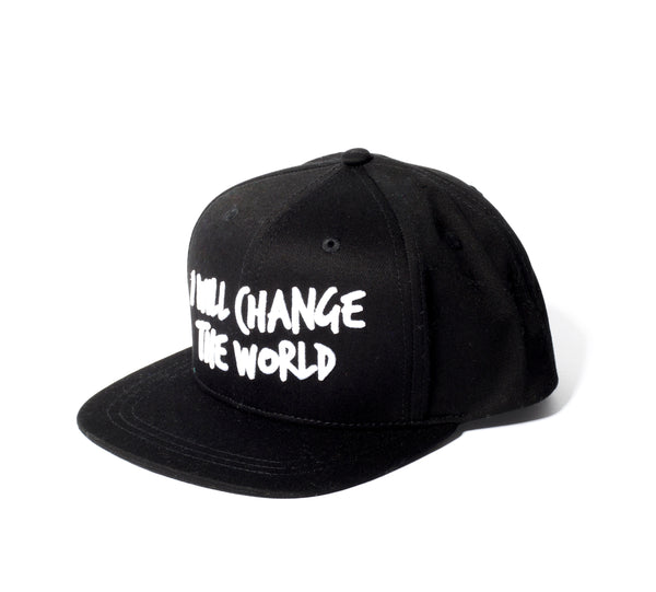 Sometime Soon Black I Will Change the World Cap | POCO KIDS