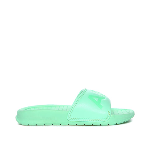 AKID Mint Green Aston Pool Sliders, side view | POCO KIDS
