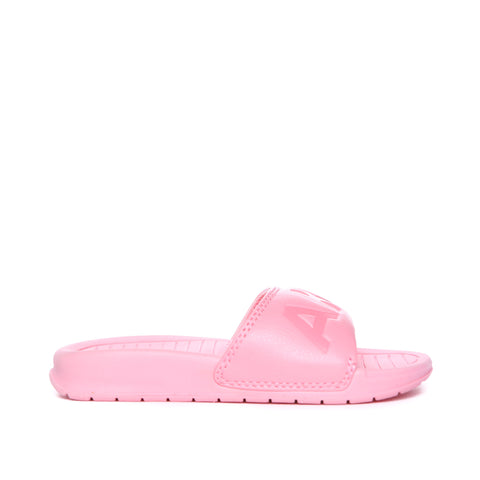 AKID Pale Pink Aston Pool Sliders, side view | POCO KIDS